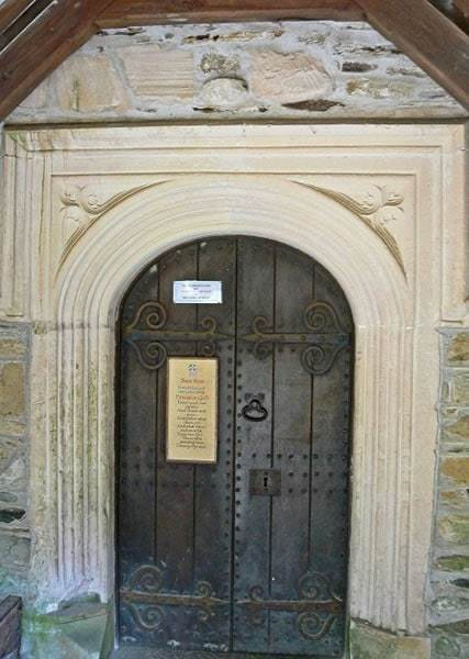 9. St Mylor Church Door